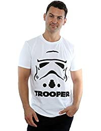 Star Wars Herren Stormtrooper Trooper T-Shirt Large Weiß