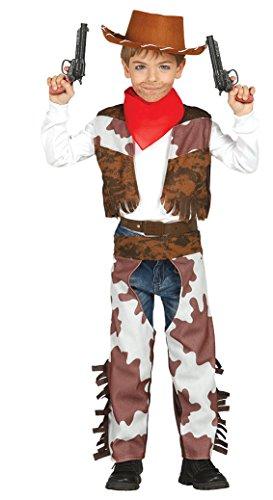 Kleinkind Cowboy Kostüm - Guirca-Kostüm Cowboy, Größe 3-4Jahre, Braun (85683)