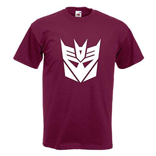 KIWISTAR - Transformers Decepticons T-Shirt in 15 verschiedenen Farben - Herren Funshirt bedruckt Design Sprüche Spruch Motive Oberteil Baumwolle Print Größe S M L XL XXL Burgund