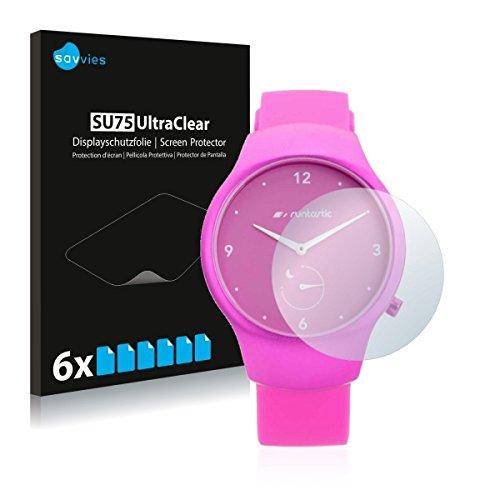 6x Savvies SU75 UltraClear Bildschirmschutz Schutzfolie für Runtastic Moment Fun (ultraklar, mühelosanzubringen)
