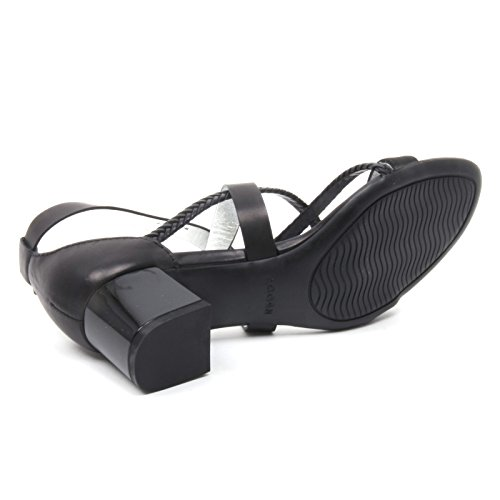 B4138 Sandalia Mujer Hogan 187 Zapato Con Trenzas Sandalia Negro Zapato Mujer Negro