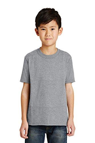 Port & Company Jungen 50/50Baumwolle/Poly T Shirt Gr. Medium, Athletic Heather - Pc55y Port