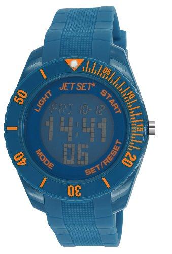 Jet Set Unisex Watch J93491-15Bubble––Digital Quartz–Blue Dial Blue Rubber Strap