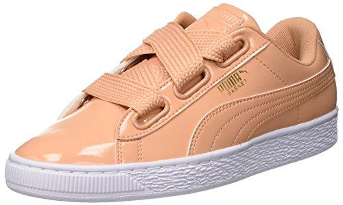 Puma Damen Basket Heart Patent Sneaker, Orange Dusty Coral, 37 EU Orange Patent Schuhe