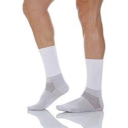 Relaxsan 550 (Weiß, Gr.2) Kurze Socken Diabetes mit X-Static Silberfasern