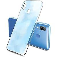 Oihxse Funda Samsung Galaxy J6 Plus 2018, Ultra Delgado Transparente TPU Silicona Case Suave Claro Elegante Creativa Patrón Bumper Carcasa Anti-Arañazos Anti-Choque Protección Caso Cover (A8)