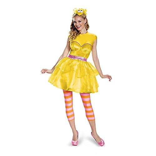Bird Adult Kostüm Big - Disguise Women's Big Bird Sweetheart Dress Costume, Yellow, Small