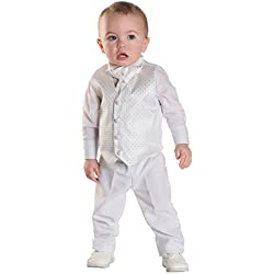 Paisley of London, Blancos para Niños Chaleco De Vestir para Bautizo, Bodas, Traje Paje Niño, Trajes Niños 3 meses a 6 años - blanco, Blanco, 12 - 18 Meses
