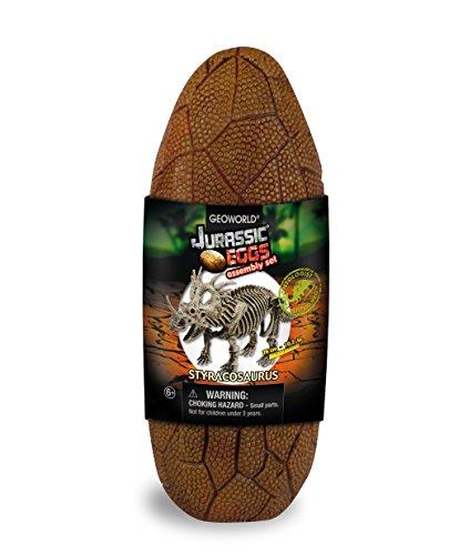 Geoworld Jurassic Eggs CL194K - Huevo con Esqueleto de estiracosaurio para Montar