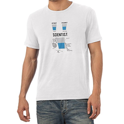 NERDO Optimist Pessimist Scientist - Herren T-Shirt Weiß