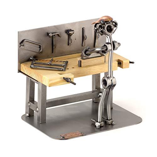 Steelman24 I Schraubenmännchen Tischler I Made in Germany I Handarbeit I Geschenkidee I Stahlfigur I Metallfigur I Metallmännchen