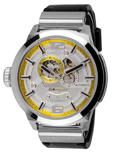 Haemmer - heter great liberty skeleton - orologio automatico da uomo in acciaio inox
