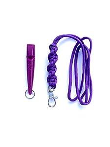 Acme 211.5Sifflet pour chien cordon & avec l'Orge Twist Noeud 3mm en violet