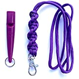 Acme 210.5 Dog Whistle & Lanyard with Barley Twist Knot 3mm in Purple