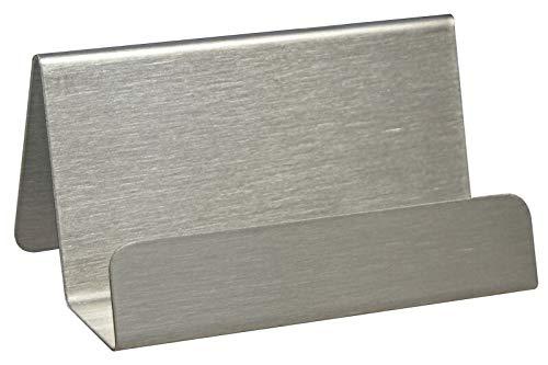 Visitenkartenständer aus gebürstetem Edelstahl/Metall/matt/Silber/Visitenkartenhalter/Schreibtisch/Büro - Zeigis®