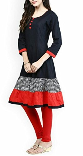 Shiroya brothers Women\'s Pure Cotton Unstitched Anarkali Kurti