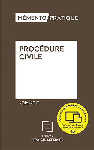 Memento procdure civile 2016-2017