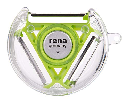 Rena Germany 3-in-1 Stainless Steel Compact Rotary Peeler (Green)
