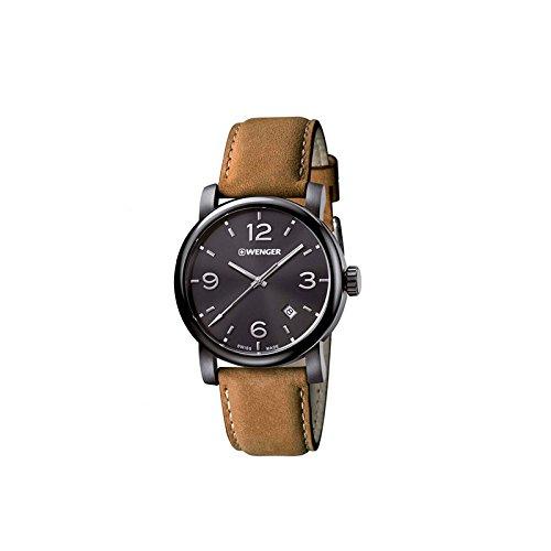 WENGER Herren-Armbanduhr WENGER URBAN METROPOLITAN 01.1041.129 Analog Quarz Leder WENGER URBAN METROPOLITAN 01.1041.129