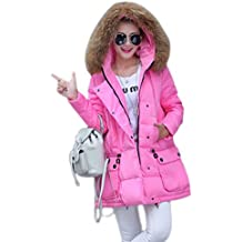 Winterjacken damen mit fellkapuze pink