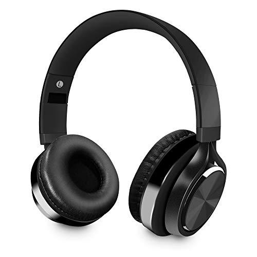 Cuffie bluetooth senza fili, wireless over ear cuffie portatili pieghevole stereo cuffia con microfono cancellazione del rumore per iphone,samsung,huawei,htc,huawei e laptop (nero)