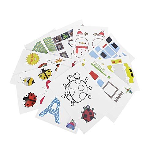 Fellibay Zeichenpapier für 3D-Zeichnstifte, Design-Papierformen für 3D-Malerei, Papier- und Skizzenmodelle für Bastelarbeiten und Malereien, 40 Stück
