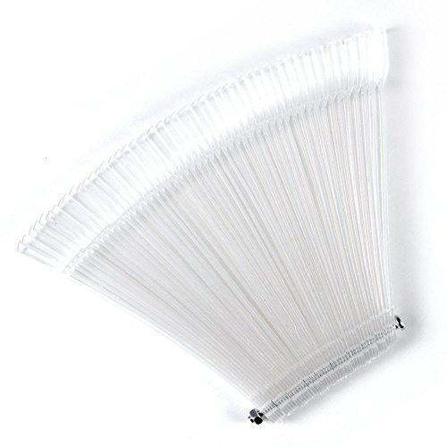 Homiki - ventaglio di 50stecche da usare come espositore per smalti su cui apporre unghie finte, pratico per nail art