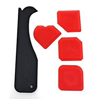 Fugenglätter Set 5 tlg | Profi Fugenabzieher für Silikon - Acryl | Fugenspachtel mit Silikon-Entferner & Glättspachtel | Fugenkratzer Bayram®
