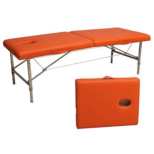 K-Y Massageliege klappbar höhenverstellbar Deluxe Leichtgewicht Massagetisch Bett Couch Beauty Bed 2 Abschnitt Aluminium Therapy Bed Spa Bett Mobile Massageliege (Farbe : H)