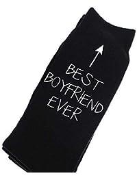 Best Boyfriend Ever Black Calf Socks Birthday Socks Christmas Present Mens Birthday
