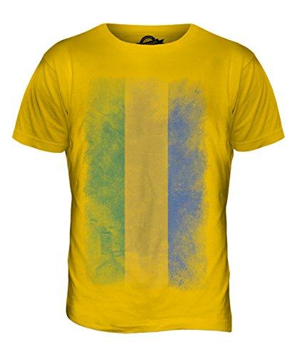 CandyMix Gabun Verblichen Flagge Herren T Shirt Dunkelgelb