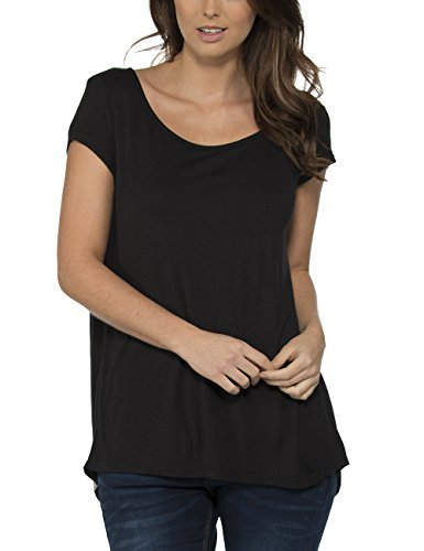 Bench Observe - T-Shirt - Femme Noir - Schwarz (Jet Black BK014)