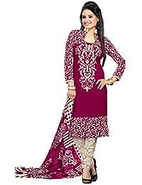 K Designer Women's Chiffon Unstitched Dress Material (Mehak7003a_Multi-coloured_Freesize)
