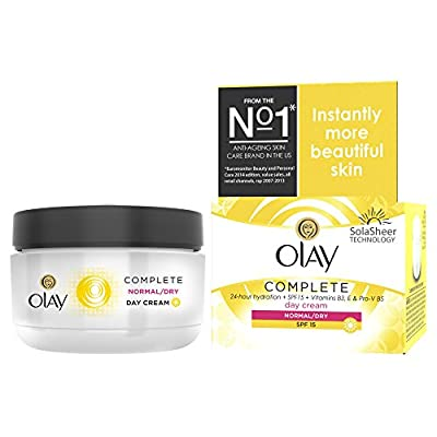 Olay Complete Care 3-in-1 Moisturiser Day Cream SPF 15 for Normal/Dry Skin, 50 ml from Olay
