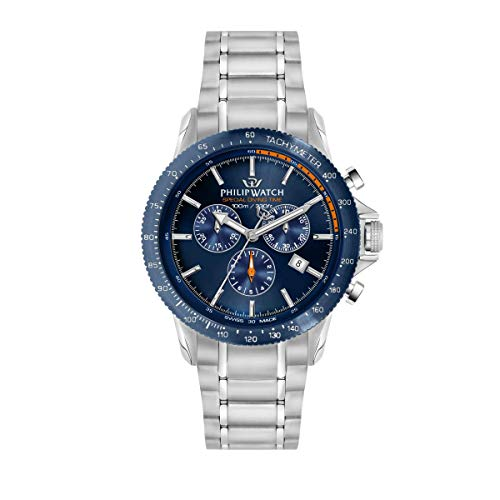 Philip Watch Men's Watch, Grand Reef Collection, Chronograph, Made of Stainless Steel - R8273614004