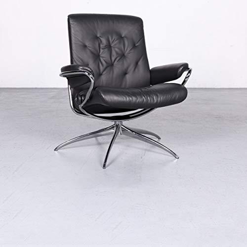 Stressless Metro M Designer Leder Sessel Low Back Schwarz Echtleder Stuhl Relax #6800