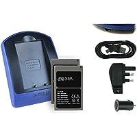 Baterías + Cargador (USB/principal/coche) BLS-5 para Olympus E