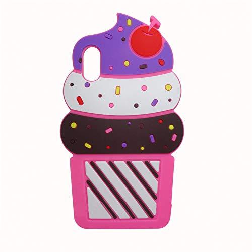 PCSJK Hüllen Für iPhone x 10 max 3D silikon Cartoon Minnie cat Cupcake weiche silikon Telefon case für iPhone XS max xr xs (Case Cupcake Iphone)