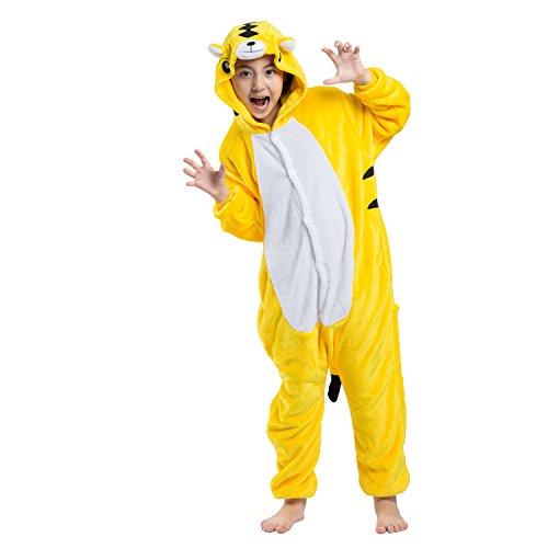 PALMFOX Onesie Pyjamas Kostüm Jumpsuit Tier Schlafanzug Kids Unisex Fasching Cosplay (Girl Abenteuer Kostüm)