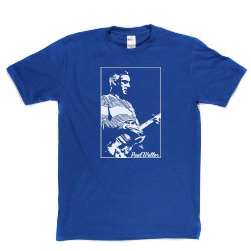 Paul Weller The Modfather T-shirt 1980's 1970's UK British Mod Indie Punk Rock Königsblau