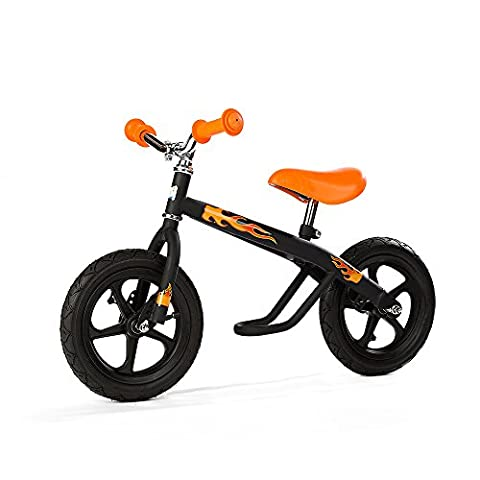 Chillafish Boy's Jack and Josie Balance Bike - Black, 34.2 x 18.5 x 20.4-Inch
