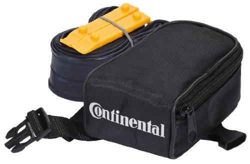Continental Satteltasche im SET mit Fahrradschlauch Schlaucht. Race 28 S60 Schlauch und 2 Reifenhebern Race, schwarz, 100384