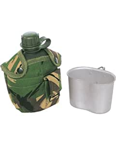 Army Style water bottle & cup - DPM Camo