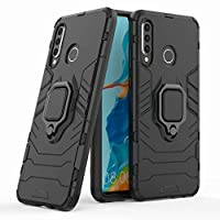 For Huawei P30 Lite Case with Kickstand and Hybrid Drop Protection Holder Stand Case Cover for Huawei P30 Lite, Black