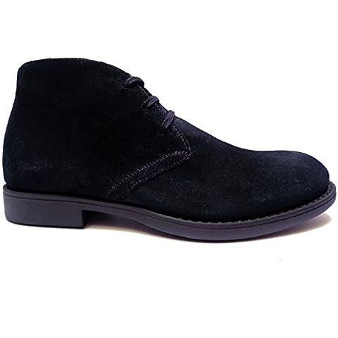 Nero Giardini scarpe casual da uomo polacchini in camoscio Blu,n. 43