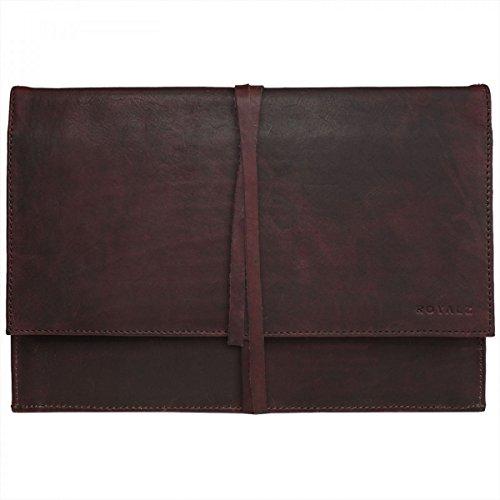 ROYALZ Lederhülle für Acer Switch Alpha 12 Ledertasche Tasche Schutz Hülle Cover Schutztasche Schutzhülle Case Sleeve Leder braun