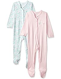 Mothercare Baby Girls' Sleepsuit (Pack of 2)