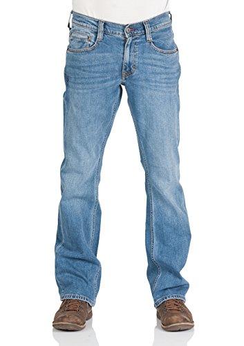 Mustang Herren Jeans Oregon - Bootcut - Blau - Light Blue - Mid Blue - Dark Blue, Größe:W 36 L 34, Farbe:Blue Denim (782) (Denim-jeans Für Männer)