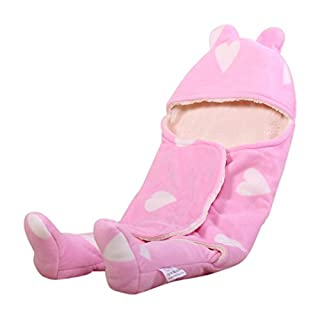 Ambrosya | Cuddly Soft Baby Bodysuits | Baby Blanket Baby Romper Bed Bed Blanket First Season Seasons Kids Blanket Pillow Blanket Romper Bedspread (Pink)