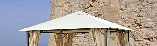 Grasekamp Ersatzdach 3x3m Gartenpavillon Nizza Sand Pavillon Partyzelt